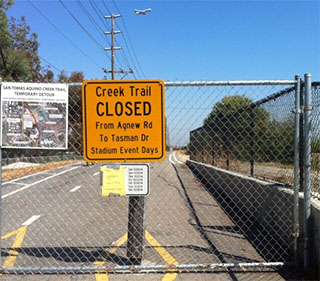 Creek Trail Closure