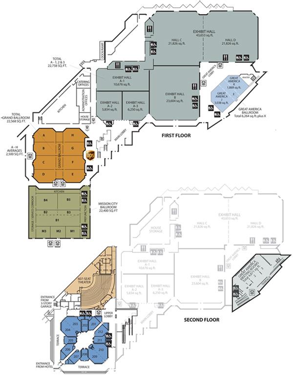 Floor Plans amp Tour Convention Center Santa Clara