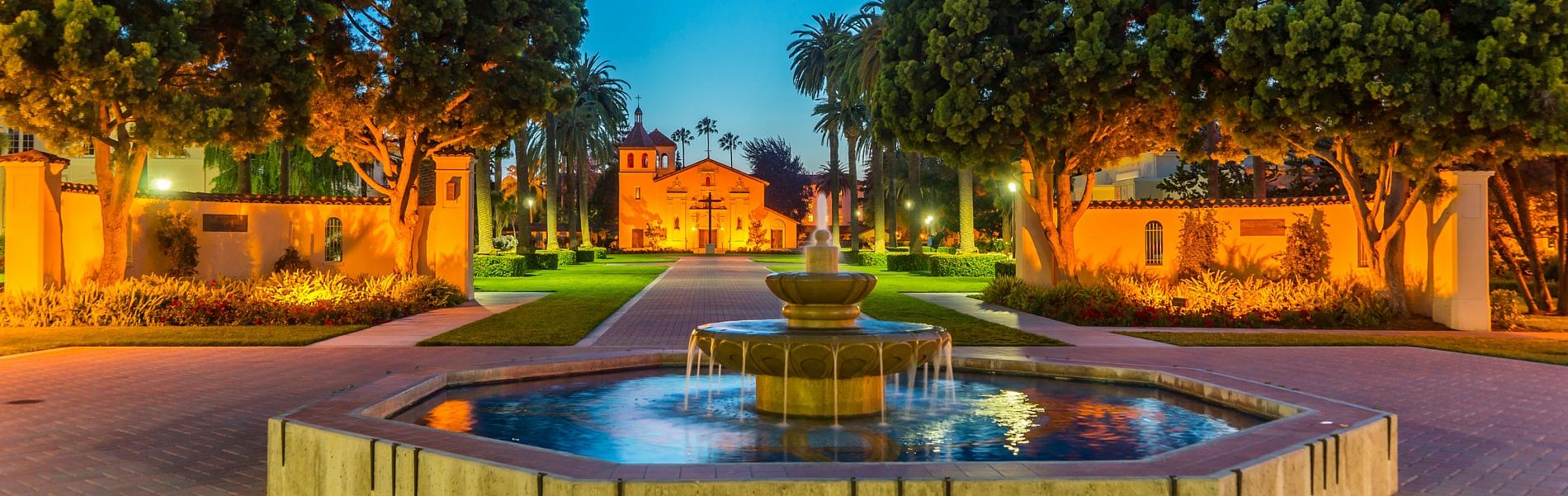 Mission Santa Clara at Night