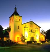 Mission Santa Clara at Night